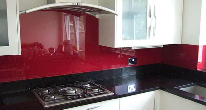 Glass Kitchen Splashback Red Flickr Sharing