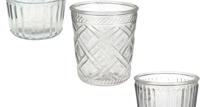 Glass Tea Light Holder Assortment Hobbycraft