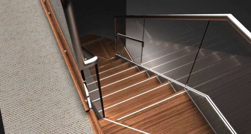 Glass Treads Balustrade Feature Staircase