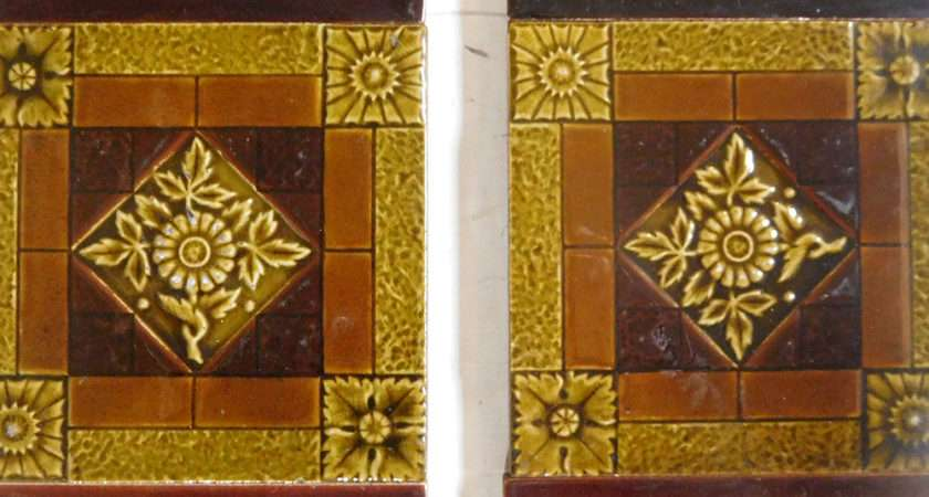 Gold Amber Victorian Fireplace Tiles Buy Vfs