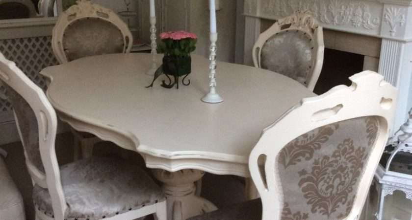 Gorgeous French Louis Shabby Chic Cream Dining Table