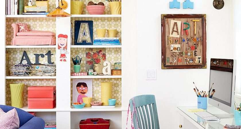 Gorgeous Shabby Chic Home Offices Craft Rooms