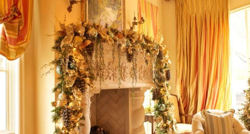 Gorgeously Stunning Mantel Cor Pulls Colors Room Into