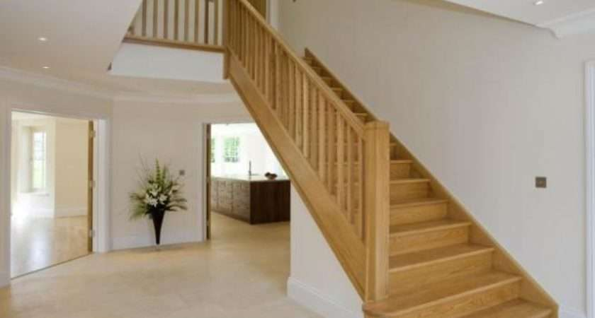 Grand Beige White Entrance Hall Staircase Stairs