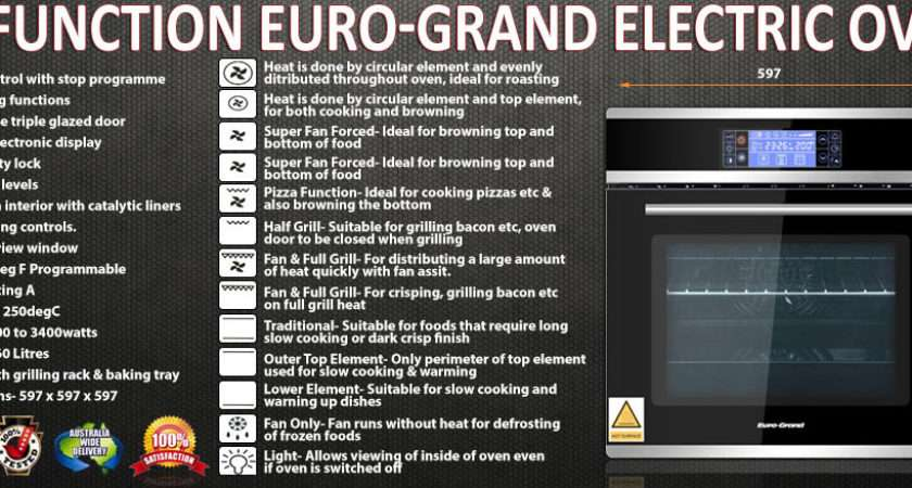 Grand Electric Oven Catalytic Liners Touch Control Panel Ebay