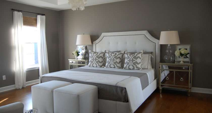 Gray Bedroom Contemporary Benjamin Moore Galveston