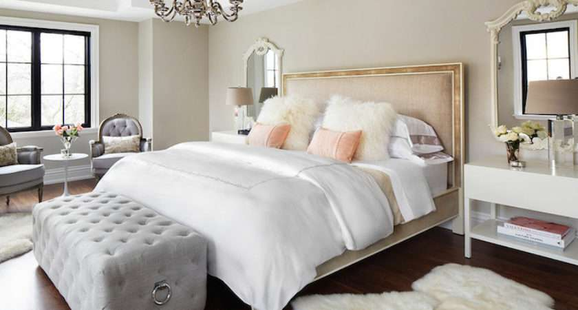 Gray Bedroom Eclectic Architectural Digest