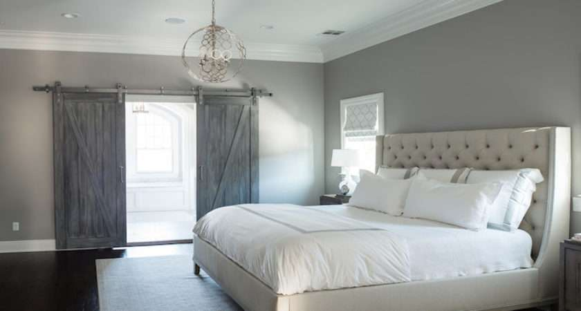 Gray Bedroom Paint Colors Transitional Benjamin Moore