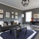 Gray Blue Living Room Contemporary Greg Natale