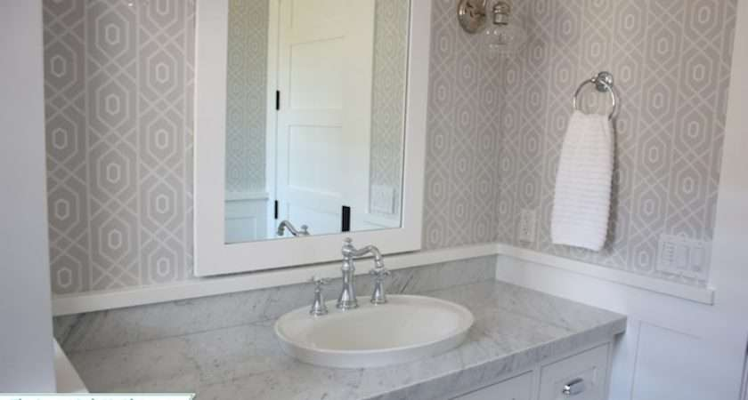Gray Geometric Transitional Bathroom Sunny Side