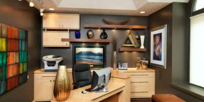Gray Home Office Furniture Designs Ideas Plans
