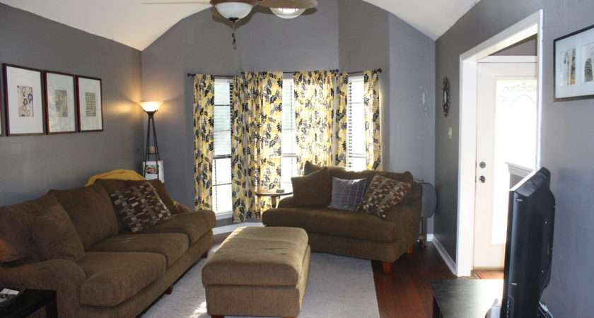 Gray Yellow Living Room Place Like Home Pinterest