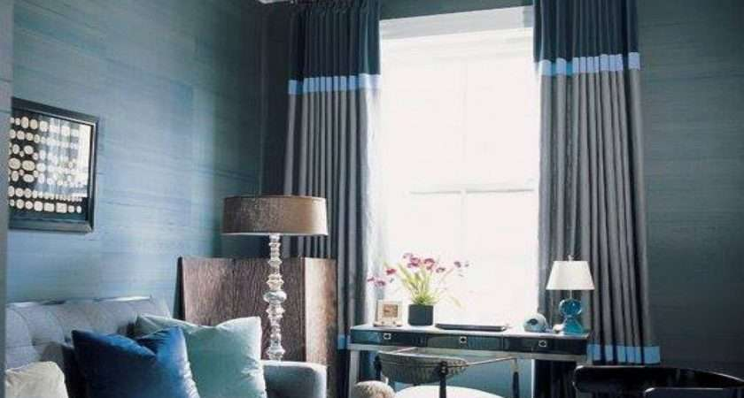 Great Curtain Ideas Navy Blue Accents Living Room