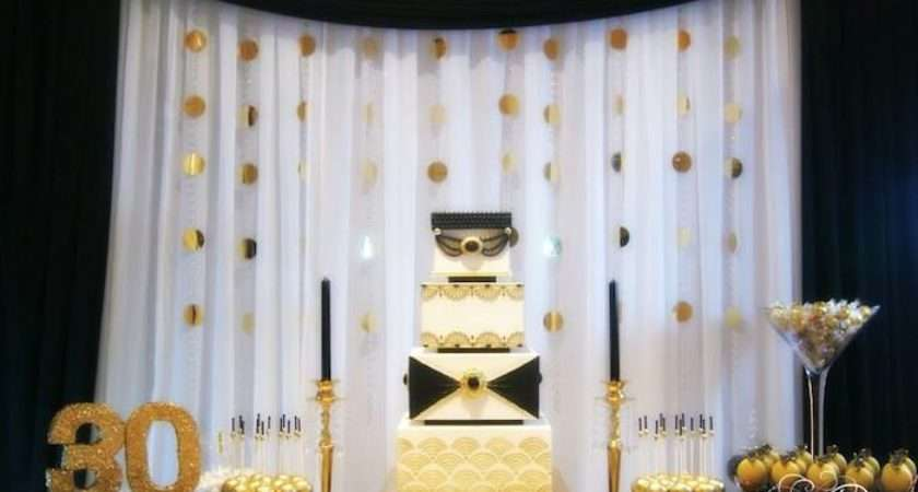 Great Gatsby Themed Birthday Party Many Cute Ideas Via Kara