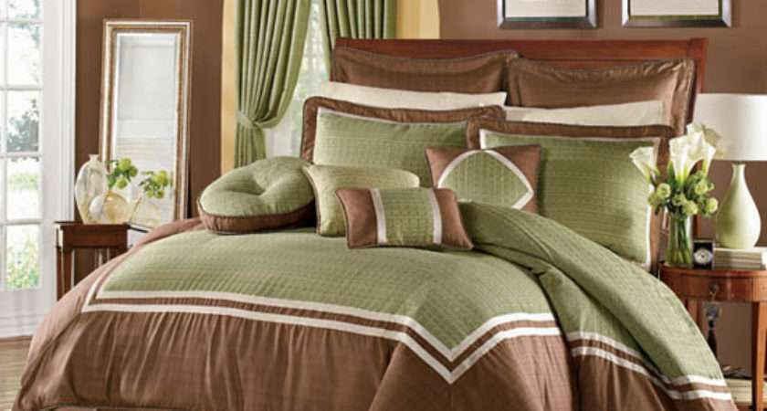 Green Brown Master Bedroom Decorating Ideas Home