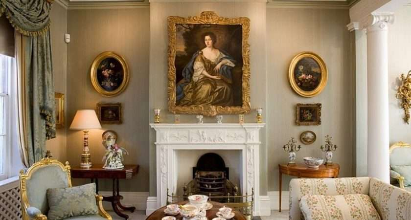 Green Drawing Room Georgian Style Spaces Colonial Pinterest
