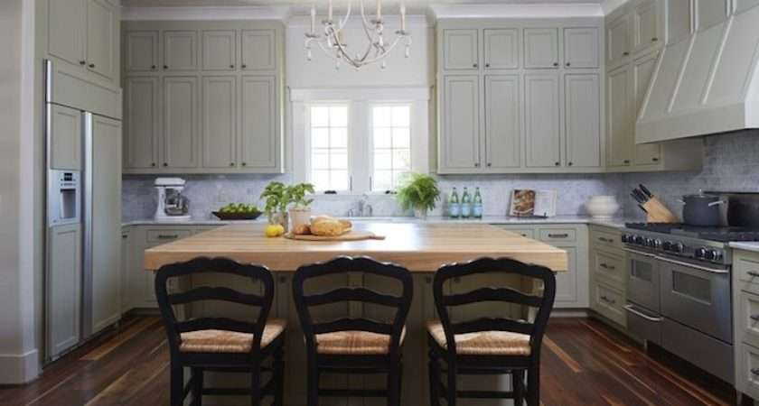 Green Gray Kitchen Cabinets Country Christopher Architects