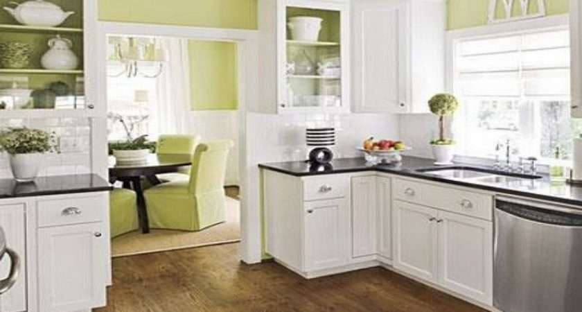 Green Kitchen Color Schemes Wood Cabinets