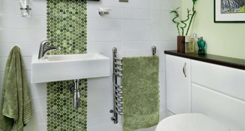Green Mosaic Bathroom Decorating Ideas Ideal