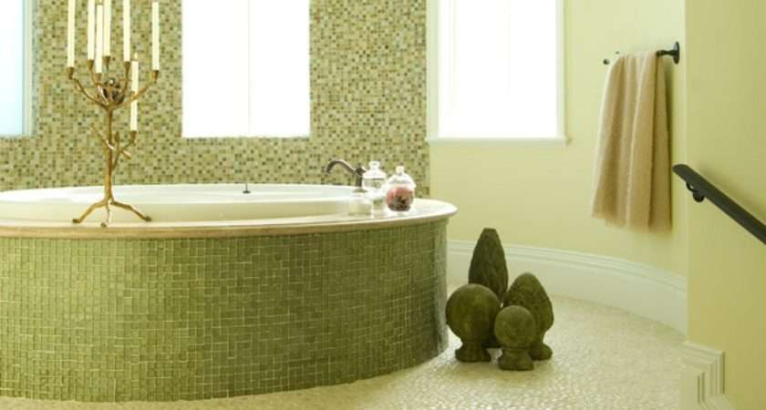 Green Mosaic Bathroom Tiles Ideas Interior