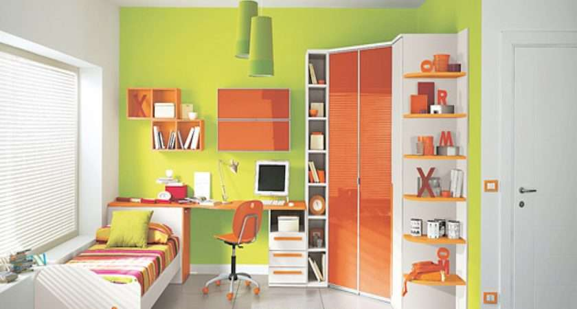 Green Orange Bedroom Decorating Ideas Year Old