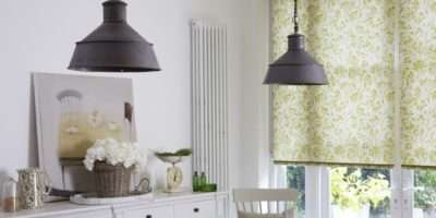 Green Patterned Roller Blinds Hillarys