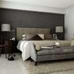 Grey Brown Taupe Sophisticated Bedroom Design Sofa Bed Olpos