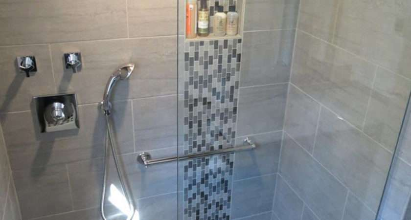 Grey Mosaic Bathroom Floor Tiles Ideas
