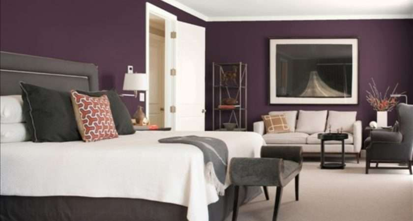 Grey Purple Bedroom Rooms