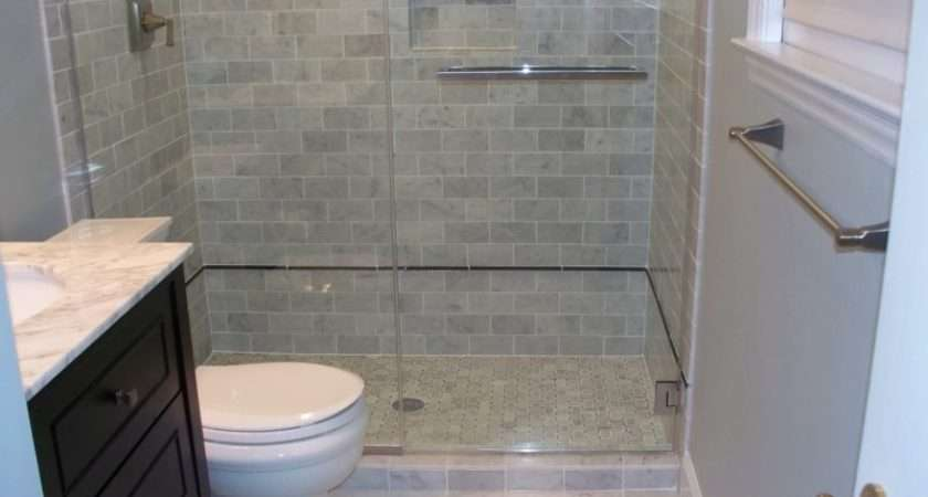 Grey White Marble Tile Bathroom Sophisticated