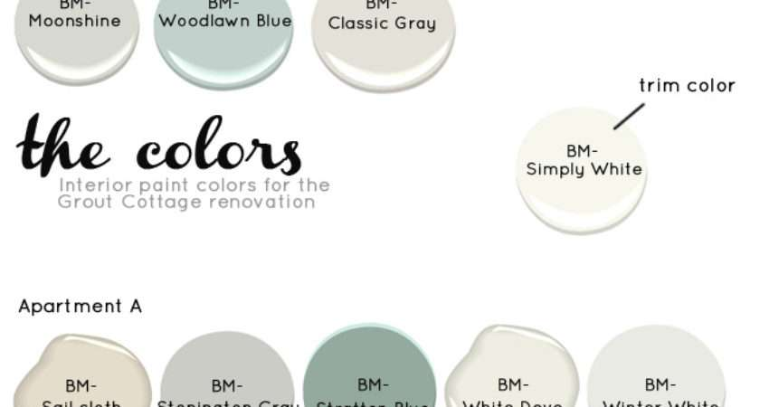 Grout Cottage Interior Paint Colors Estate Things
