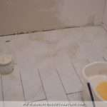 Grouting Floor Tile Bathroom Tiled Grouted