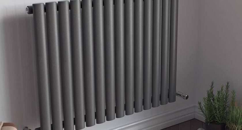 Guthrie Low Single Modern Horizontal Oval Tube Radiator