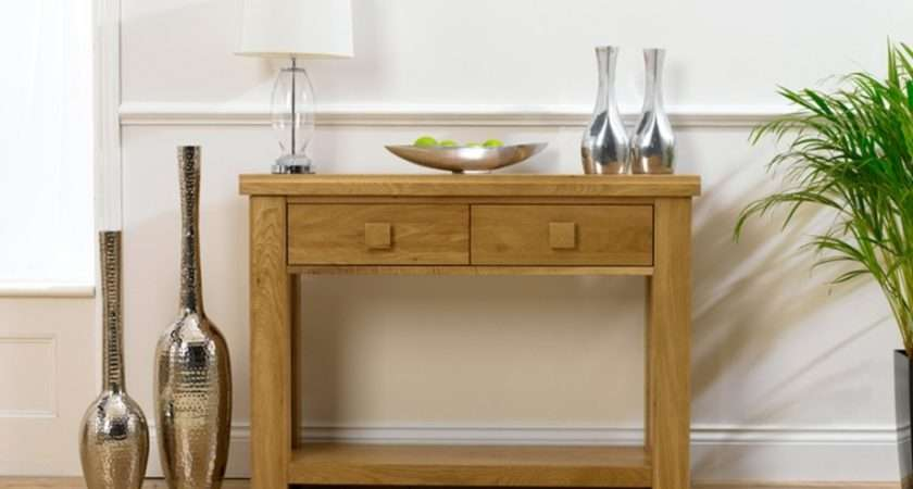 Hallway Furniture Very Narrow Console Table Drawers