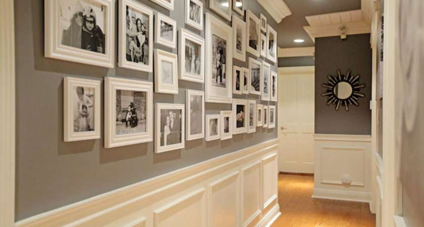 Hallway Wall Transitional Entrance Foyer Jenn Feldman Designs