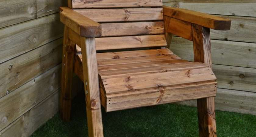 Hand Made Seater Chunky Rustic Wooden Garden Furniture