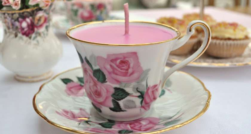 Hand Made Vintage Tea Cup Candles Buy