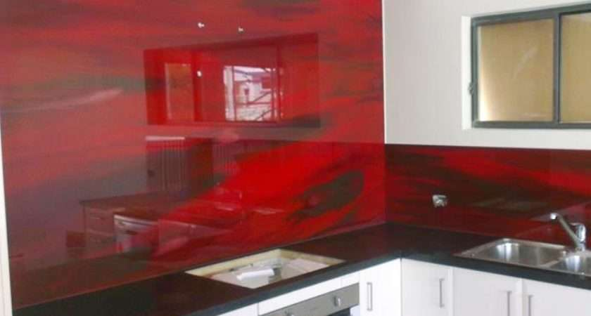 Hand Painted Glass Splashback Kitchen Brisbane