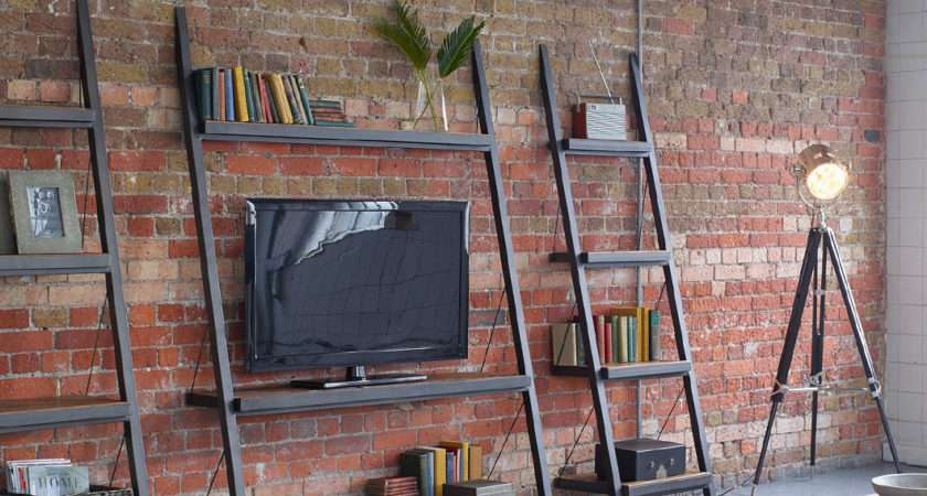 Handcrafted Wooden Ladder Bookcases Shelving Units
