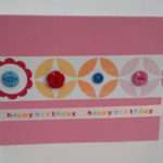 Handmade Birthday Geometric Button Greeting Cards Envelopes