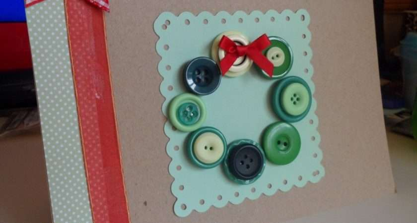 Handmade Button Cards Christmas Pinterest