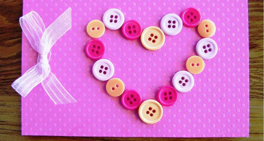 Handmade Cute Pink Button Card Surprise Pinterest
