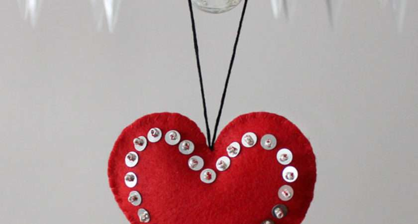 Handmade Hanging Heart Valentine Decorations Loulou Downtown