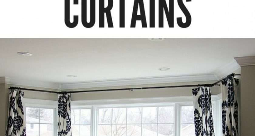 Hang Bay Window Curtains Oversized