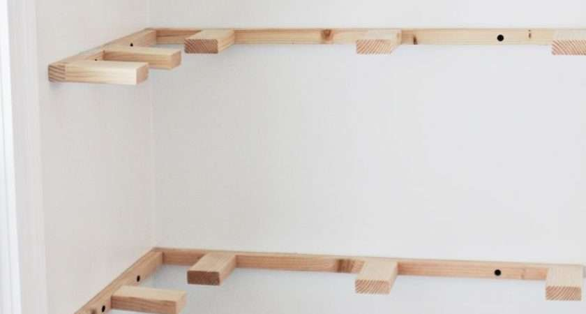 Hang Floating Shelves Drywall Without Putting