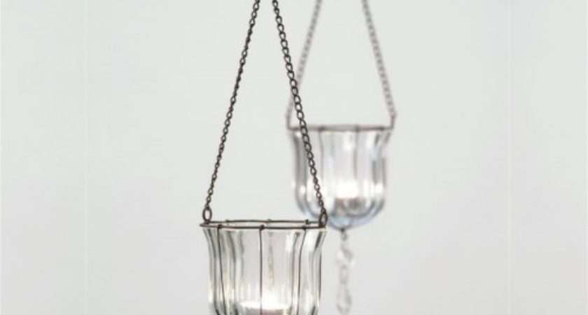 Hanging Teardrop Votives Glass Tealight Holders