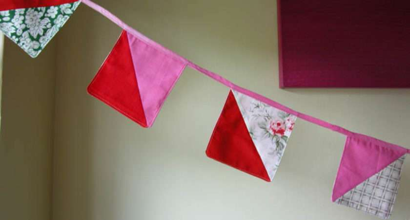 Happy Make Simple Patchwork Bunting