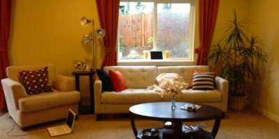 Happy Yellow Living Room Before After