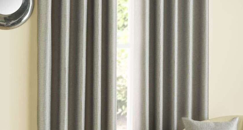 Harley Luxury Modern Embroidered Lined Eyelet Curtains