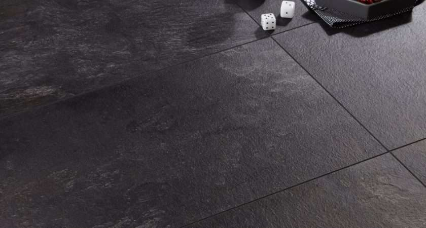 Harmonia Black Slate Effect Laminate Flooring Pack
